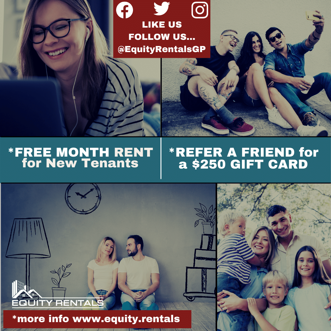 January 2021 Promotion Free Month Rent Free Gift Card For Referrals